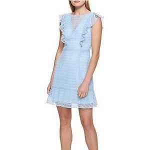 GUESS Crochet Ruffle A-Line Sleeveless Dress NWOT